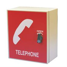 Small Telephone Cabinet In Red